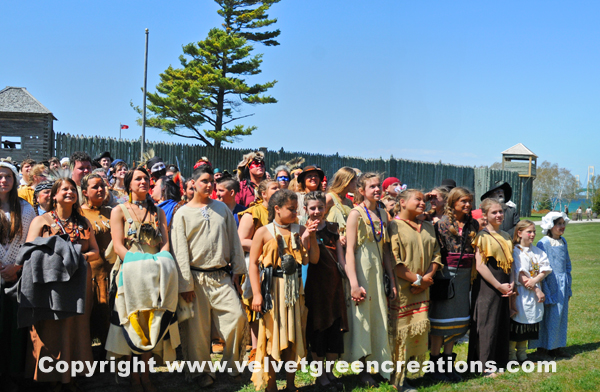 The Fort Michilimackinac Pageant is a historically unique event that is reenacted each year during the Memorial Weekend.  The pageant has a cast of over 400 members representing the French, British and Native Americans.  This is the longest running FREE historical event of its kind in the Nation.